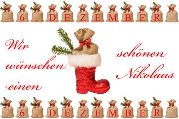 Nikolausstiefel mit Säckchen