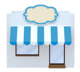 storefront symbol 3d illustration