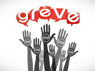 groupe mains : stop grève