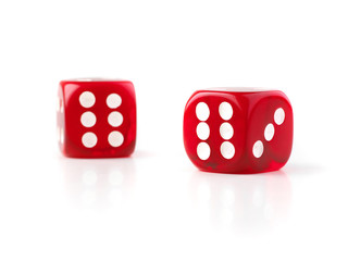 dice in selective focus