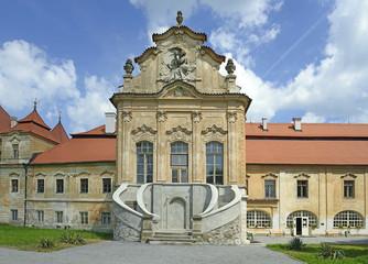 Zeliv, Building of the abbey, Czech republic