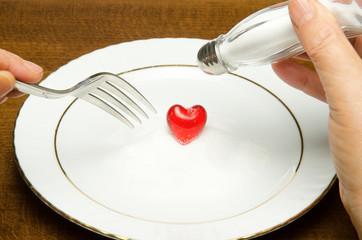 Do not throw salt in your heart!