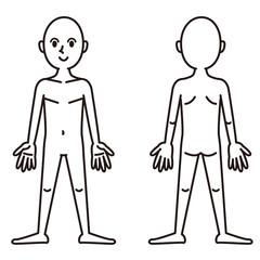 人体図_白黒