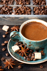 delicious Coffee  with spices
