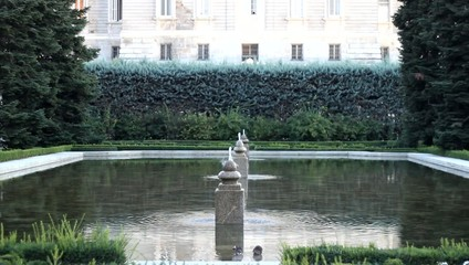 Royal Palace (Palacio Real), Madrid, Spain.