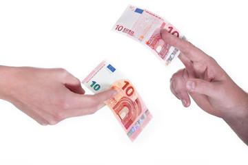 Tausch von alt gegen neu 10 Euro Schein 2014