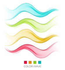 Abstract colorful wave design element