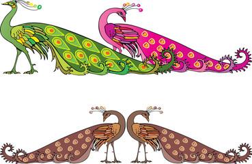 peacocks decorative