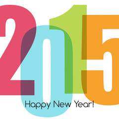 Happy new year greeting with number