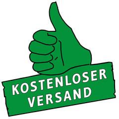 tus99 ThumbUpSign tus-v16 - Kostenloser Versand - grün g2199