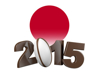 Rugby 2015 design with Japan Flag