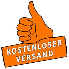 tus101 ThumbUpSign tus-v16 - Kostenloser Versand - orange g2201