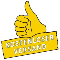 tus102 ThumbUpSign tus-v16 - Kostenloser Versand - gelb g2202