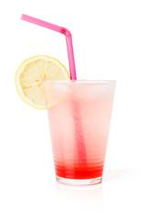 Glass lemonade with lemon slice
