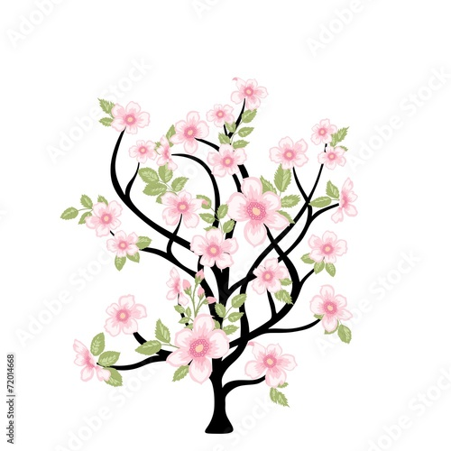 Naklejka Spring tree with flowers for your design