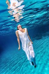 Beautiful female underwater