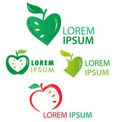 fruit symbol set isolated on white background