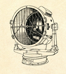 Military searchlight (diameter 1,5 m, ca. 1930)