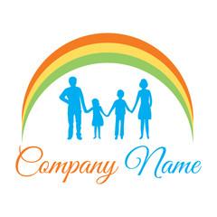 Happy Family Silhouettes logo