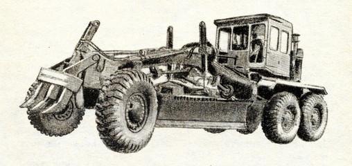 Soviet road grader ca. 1960