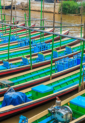 Tourist boat at Inle Lake in Shan State, Myanmar