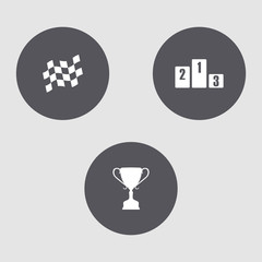 Mini set of sports icons.