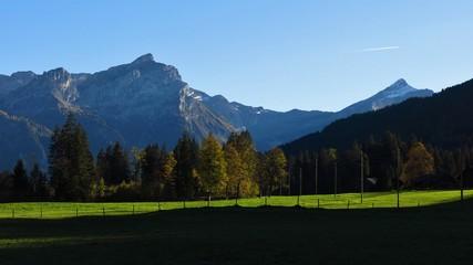 Oldenhorn and Schlauchhorn in the evening