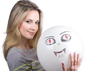 Beautiful girl with a balloon