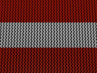 Austrian Euros Flag background illustration