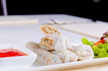 Delicious Spring Roll Recipe with Sweet Sauce