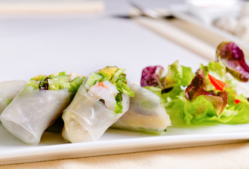 Tasty Asian Fresh Spring Rolls Recipe
