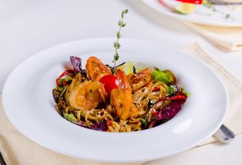 Delicious seafood pasta