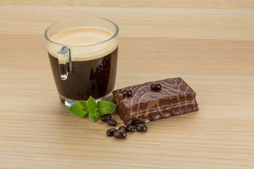 Coffe with cake