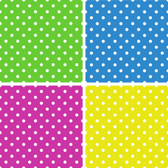 Seamless  polka dot background pattern. Vector