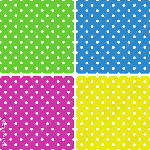 In de dag Kunstmatig Seamless polka dot background pattern. Vector