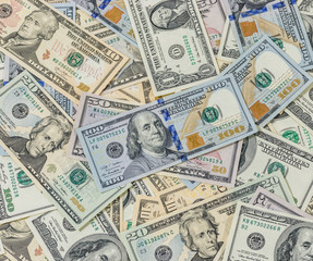 Banknotes in USD currency