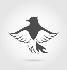 Eagle symbol isolated on white background