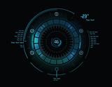 Futuristic infographics as head-up display - 72021201