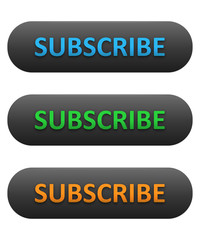 SUBSCRIBE Web Buttons Set (blue orange green join now sign up)