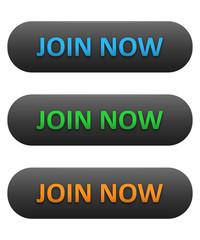 JOIN NOW Web Buttons Set (blue orange green register sign up)