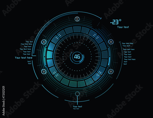 Futuristic infographics as head-up display - 72021201