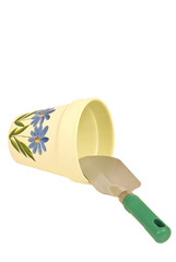 Flower Pot and Trowel