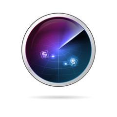 Conceptual illustration of business radar