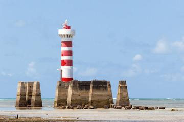 Ponta Verde lighthouse at Maceio, Alagoas, Northeast of Brazil