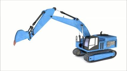 Excavator blue