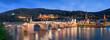 Leinwandbild Motiv Heidelberg Panorama Nachtaufnahme