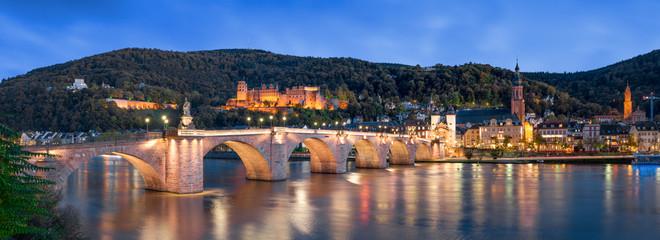 Heidelberg Panorama Nachtaufnahme