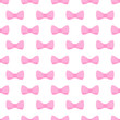 Vector tile pattern with pink bows on white background