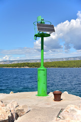 small green solar lighthouse