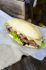 Ham Salad Deli Sub Sandwich